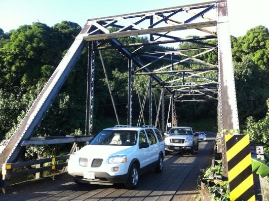 Brücke über den Hanalei River